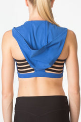Elliptical Hooded Sports Bra
