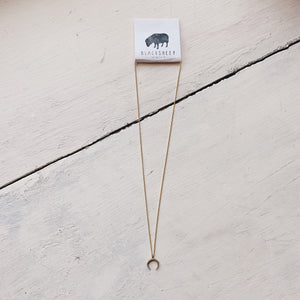 gold bullhorn necklace