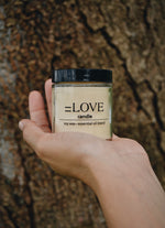 =LOVE candle