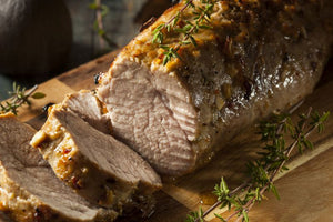 Slow Cooker Garlic Rosemary Pork Tenderloin