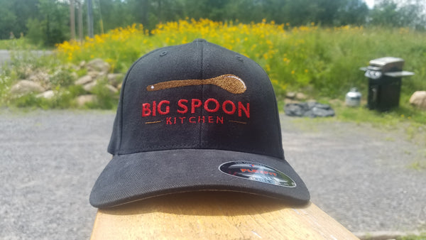 Solid Black Big Spoon Baseball Cap