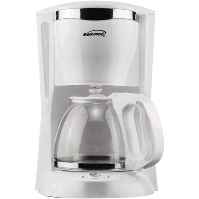 Brentwood Appliances TS-216 12-Cup Coffee Maker (White)