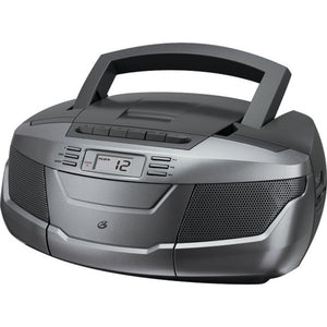 GPX(R) BCA206S CD Boom Box with AM/FM Radio & Cassette Player