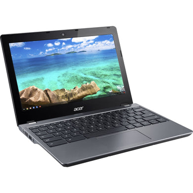 Acer C740-C4PE 11.6 LCD Chromebook - Intel Celeron 3205U Dual-core (2 Core) 1.50 GHz - 4 GB DDR3L SDRAM - 16 GB SSD - Chrome OS 64-bit - 1366 x 768 - ComfyView - Intel HD Graphics - Bluetooth - Front Camera/Webcam - IEEE 802.11a/b/g/n/ac - HDMI - 1 x USB