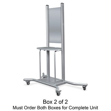 MooreCo Wall Mount Mobile Stand - 1 x Shelf(ves) - Platinum