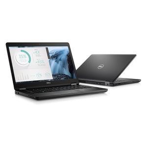 Dell Latitude 14 5000 5480 14 LCD Notebook - Intel Core i5 (7th Gen) i5-7200U Dual-core (2 Core) 2.50 GHz - 8 GB DDR4 SDRAM - 500 GB HDD - Windows 10 Pro 64-bit (English/French/Spanish) - 1366 x 768 - Intel HD Graphics 620 DDR4 SDRAM - Bluetooth - WWAN S