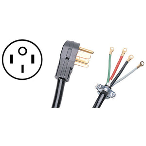Certified Appliance Accessories(R) 90-2084 4-Wire Closed-Eyelet 50-Amp Range Cord, 6ft