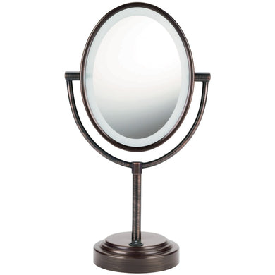 Conair(R) BE47BR Double-Sided Lighted Mirror (Oiled Bronze)