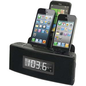 Dok(R) CR18 3-Port Smartphone Charger with Speaker & Alarm Clock
