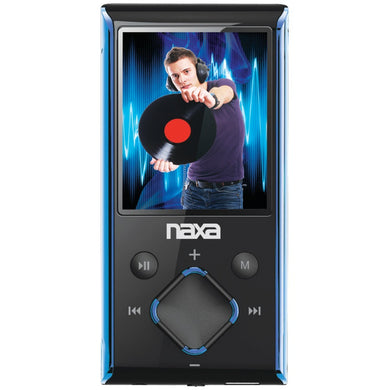 Naxa(R) NMV173NBL 4GB 1.8 LCD Portable Media Players (Blue)