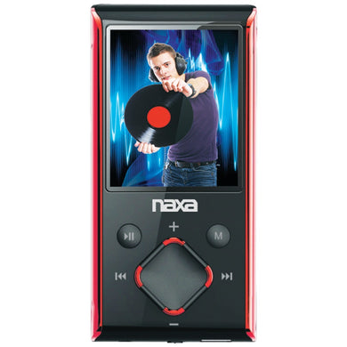 Naxa(R) NMV173NRD 8GB 1.8 LCD Portable Media Players (Red)