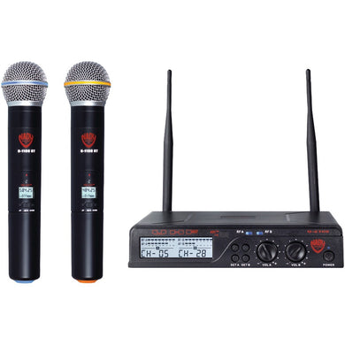 Nady(R) U-2100 HT BAND A/B Dual UHF 100-Channel Wireless Handheld Microphone System