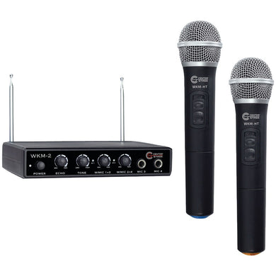 Nady(R) WKM-2 WKM-2 Dual-Channel Wireless Handheld Microphone System & 4-Input Mixer