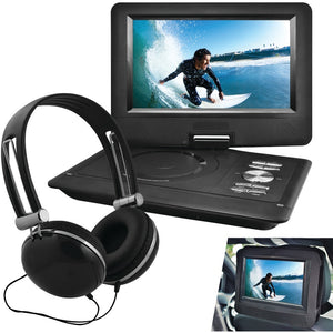 Ematic(R) EPD116BL 10 Portable DVD Player with Headphones & Car-Headrest Mount (Black)
