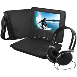 Ematic(R) EPD707BL 7 Portable DVD Player Bundles (Black)