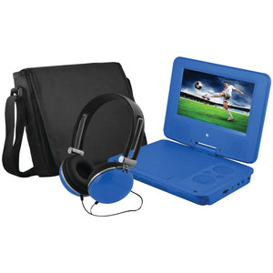 Ematic(R) EPD707BU 7 Portable DVD Player Bundles (Blue)