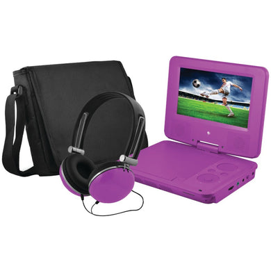 Ematic(R) EPD707PR 7 Portable DVD Player Bundles (Purple)