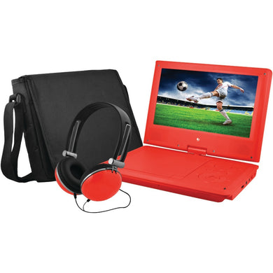 Ematic(R) EPD909RD 9 Portable DVD Player Bundles (Red)