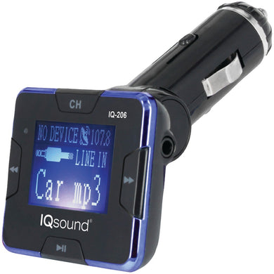 Supersonic(R) IQ-206 BLUE Wireless FM Transmitter with 1.4 Display (Blue)