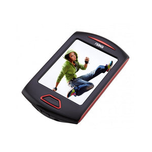 Naxa Portable Media Player W/ 2.8 Touch Screen, Built-In 4GB Flash Memory MP3 Player-Red