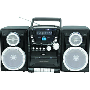 Naxa Portable CD Player with AM/FM Stereo Radio Cassette Player/Recorder & Twin Detachable Speakers