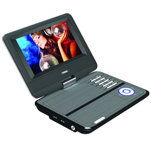 NAXA Electronics NPD-703 7-Inch TFT LCD Swivel Screen Portable DVD Player - Black lacquer