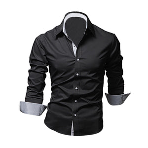 New Style Design Mens Shirts high quality Casual Slim Fit Stylish Dress Shirts 5 Colors Size:M~3XL