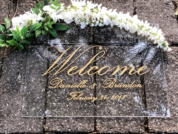 Acrylic Sign | Wedding Welcome Sign | Acrylic Welcome Sign | Hand Lettered Sign | Acrylic Wedding Welcome Sign | Modern Wedding Sign