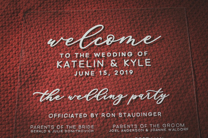 Wedding Program | Acrylic Wedding Sign | Wedding Welcome Sign | Acrylic Welcome Sign | Custom Wedding Sign