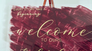 Love Story Welcome Sign Wedding