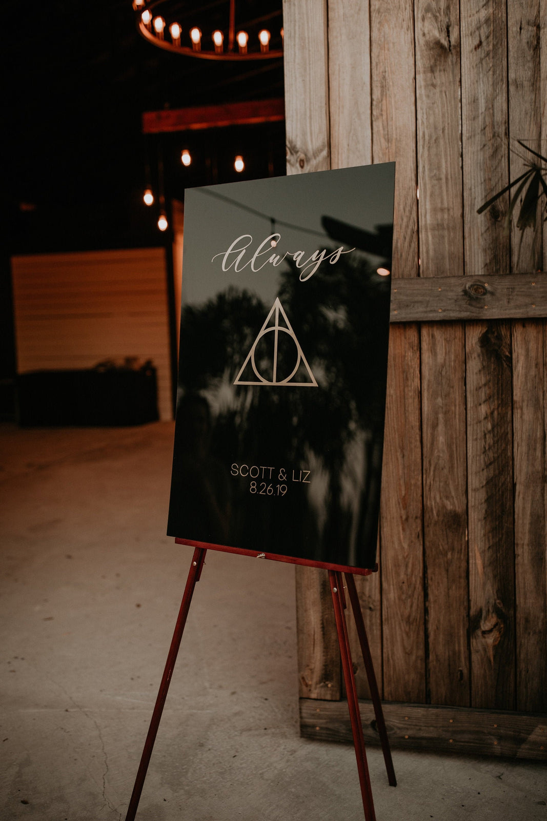 Harry Potter Wedding Signs | Wedding Welcome Sign | Painted Wedding Signs | Acrylic Welcome Sign | Harry Potter | After All This Time Always