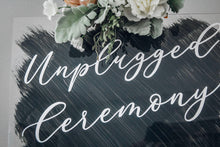 Load image into Gallery viewer, Unplugged Wedding Acrylic Sign