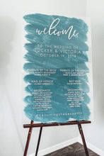 Load image into Gallery viewer, Wedding Program Welcome Sign
