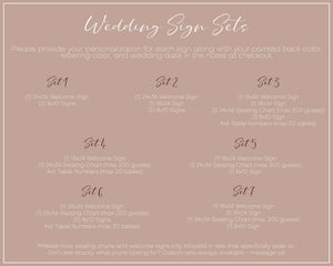 Custom Wedding Sign Packages