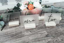 Load image into Gallery viewer, Frosted Acrylic Table Numbers