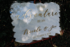 Acrylic Let The Adventure Begin Sign