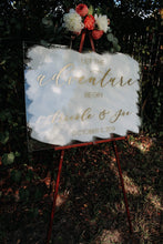 Load image into Gallery viewer, Acrylic Let The Adventure Begin Sign