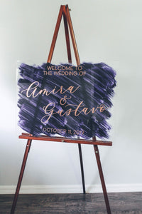 Calligraphy Acrylic Sign Welcome
