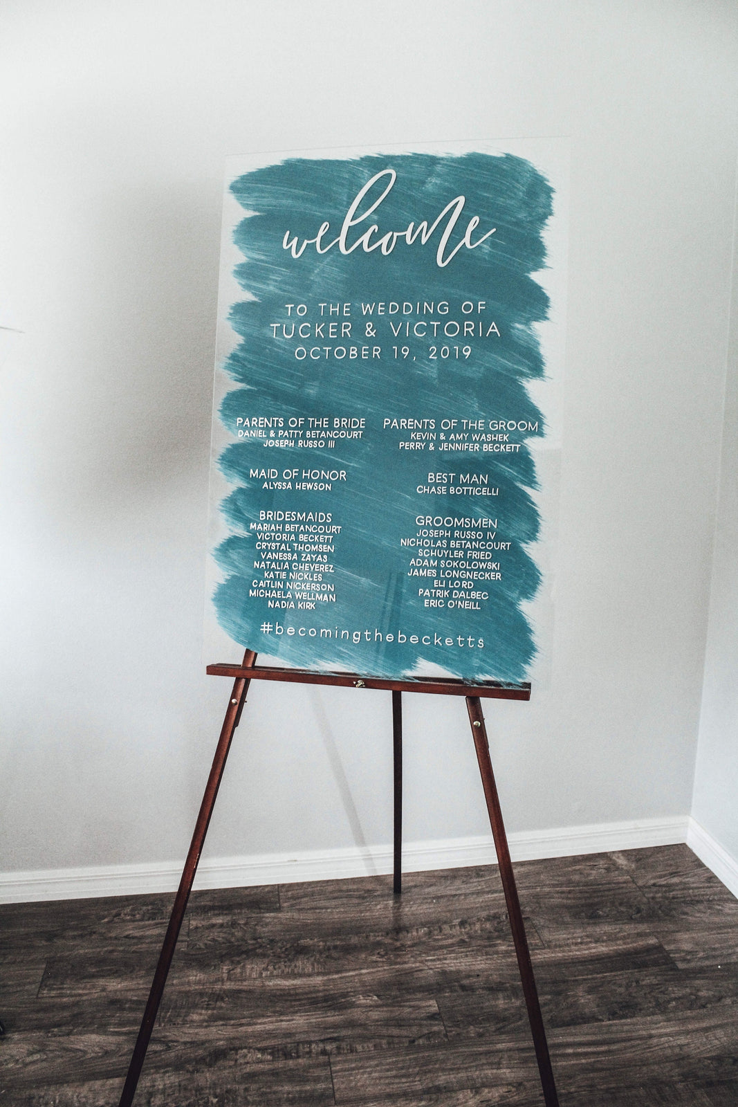 Wedding Program | Acrylic Wedding Sign | Wedding Welcome Sign | Acrylic Welcome Sign
