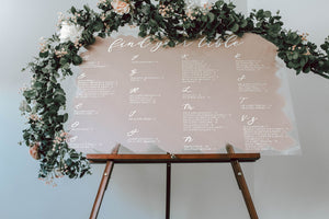 Seating Chart Sign