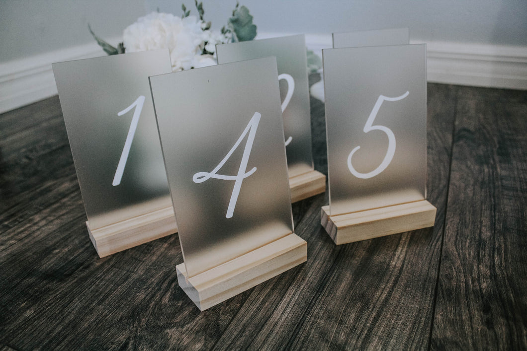Frosted Table Numbers