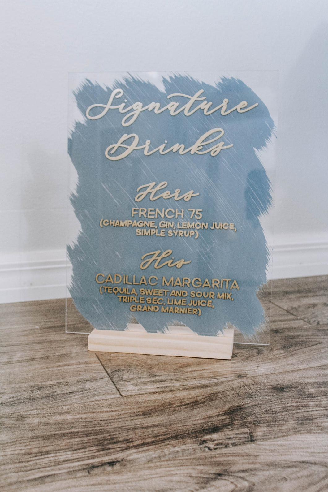 Acrylic Signature Drinks Sign