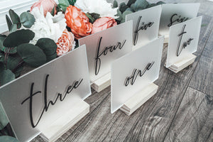 Frosted Acrylic Table Numbers