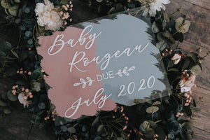 Baby Announcement Sign