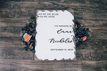 Load image into Gallery viewer, We're So Glad You're Here Sign Wedding