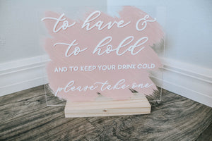 Wedding Favor Sign Keep Your Drink Cold