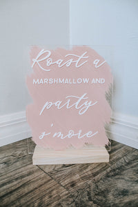 Party Smore Wedding Sign