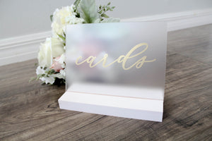 Frosted Acrylic Wedding Cards Sign