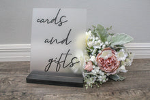 Load image into Gallery viewer, Wedding Cards Sign Frosted Acrylic