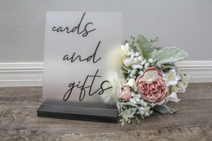 Wedding Cards Sign Frosted Acrylic